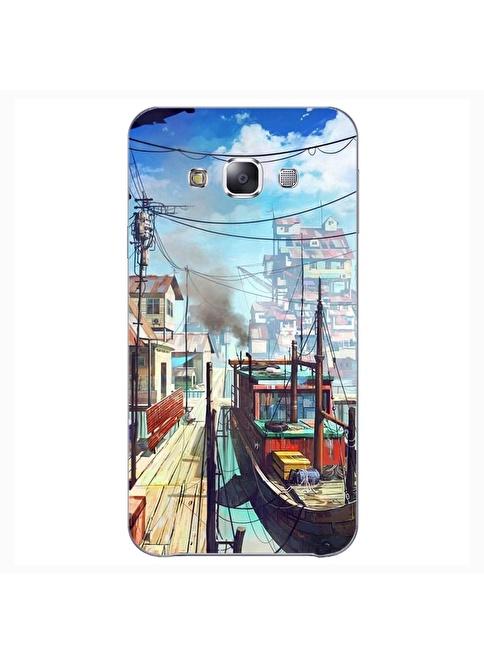 People's Cover Samsung E7 Kabartmalı Kapak Renkli
